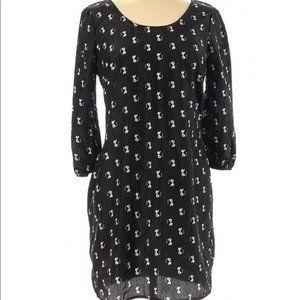 Rue 21 Cat Print Zipper Back Dress Size Large